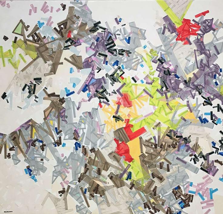"""""""La dérive"""" on canvas by Halaburda"""