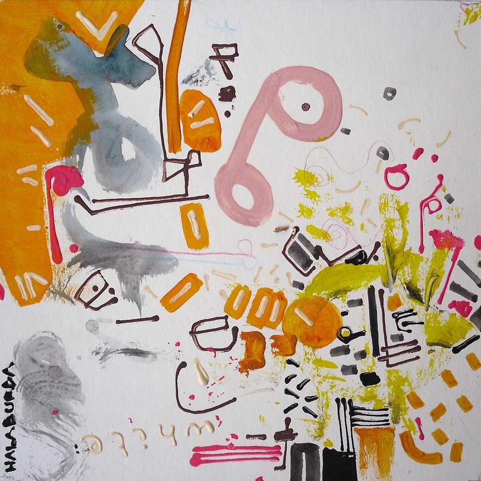 Original art on white board by Halaburda
