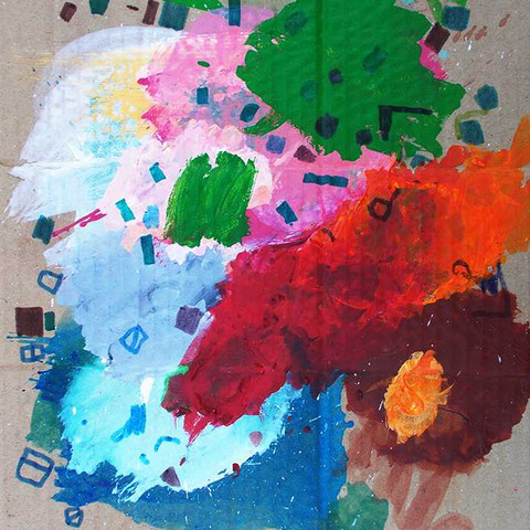 My artist paint palette is also my art