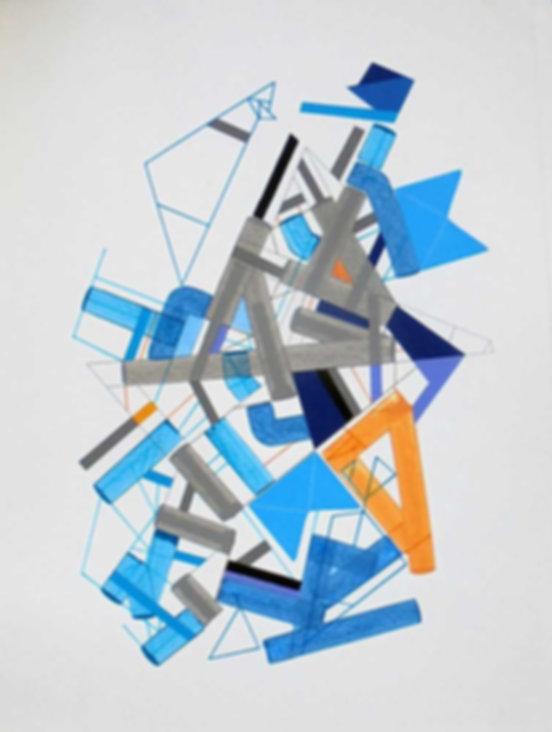 Art on paper Siimonttonn 7 by Philippe Halaburda