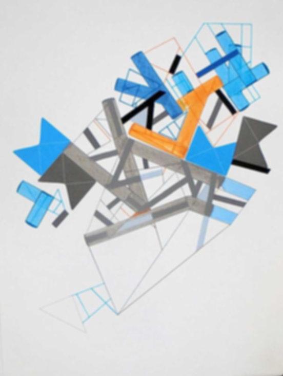 Art on paper Siimonttonn 9 by Philippe Halaburda