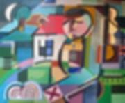 Figurative canvas by Halaburda - 1996