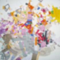 Abstract painting on canvas by Halaburda 2015