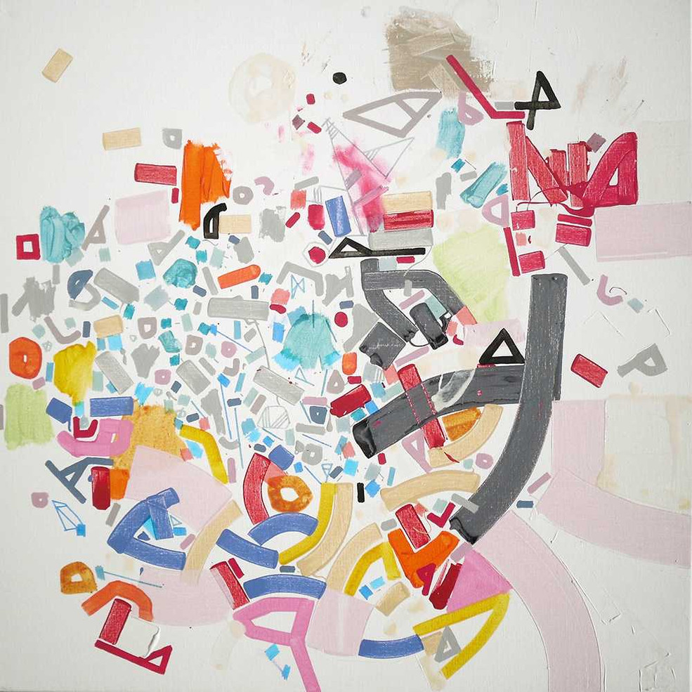 Abstract canalizationon canvas by Halaburda