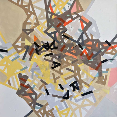Hidden networks of NY on canvas by Halaburda