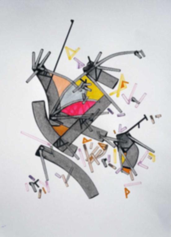 Art on paper Superiior Mesenttric by Philippe Halaburda