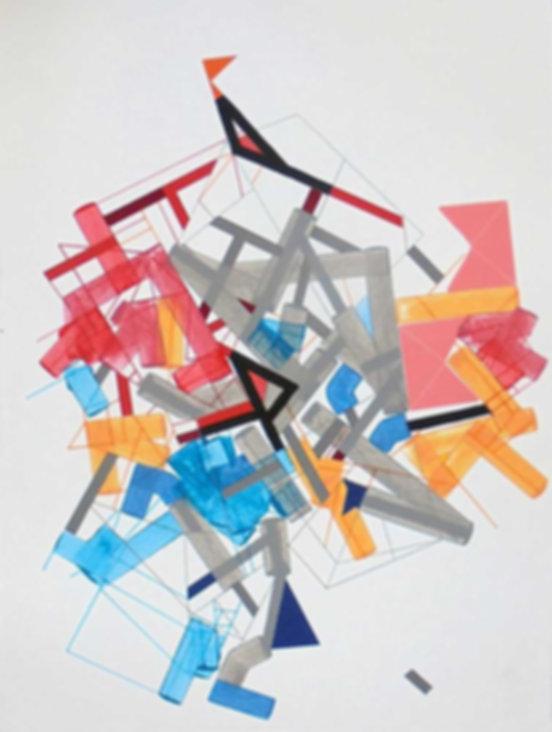 Art on paper Siimonttonn 5 by Philippe Halaburda