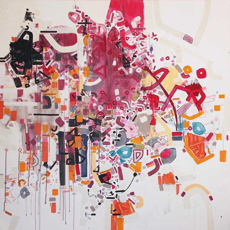 Abstract connections oncanvas by Halaburda