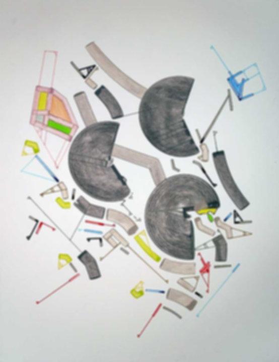 Art on paper Caniis Miror Cassiiop K by Philippe Halaburda