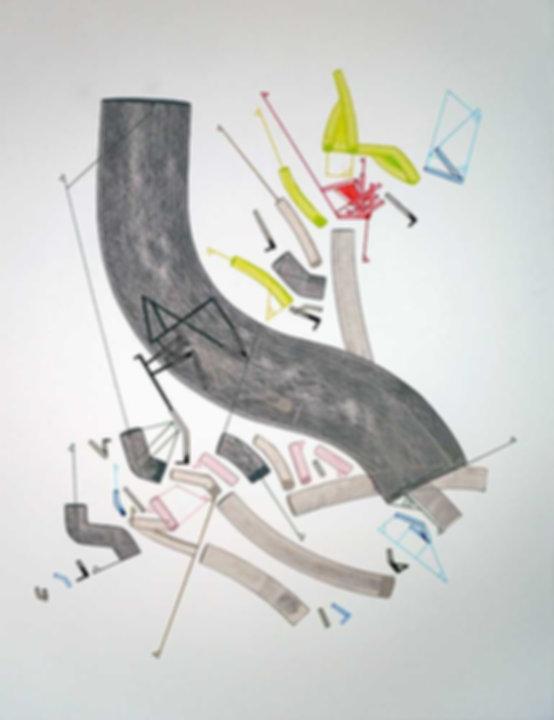 Art on paper Caniis Miror Cassiiop E by Philippe Halaburda