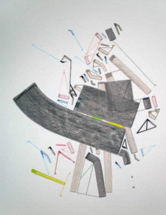 Art on paper Caniis Miror Cassiiop B by Philippe Halaburda