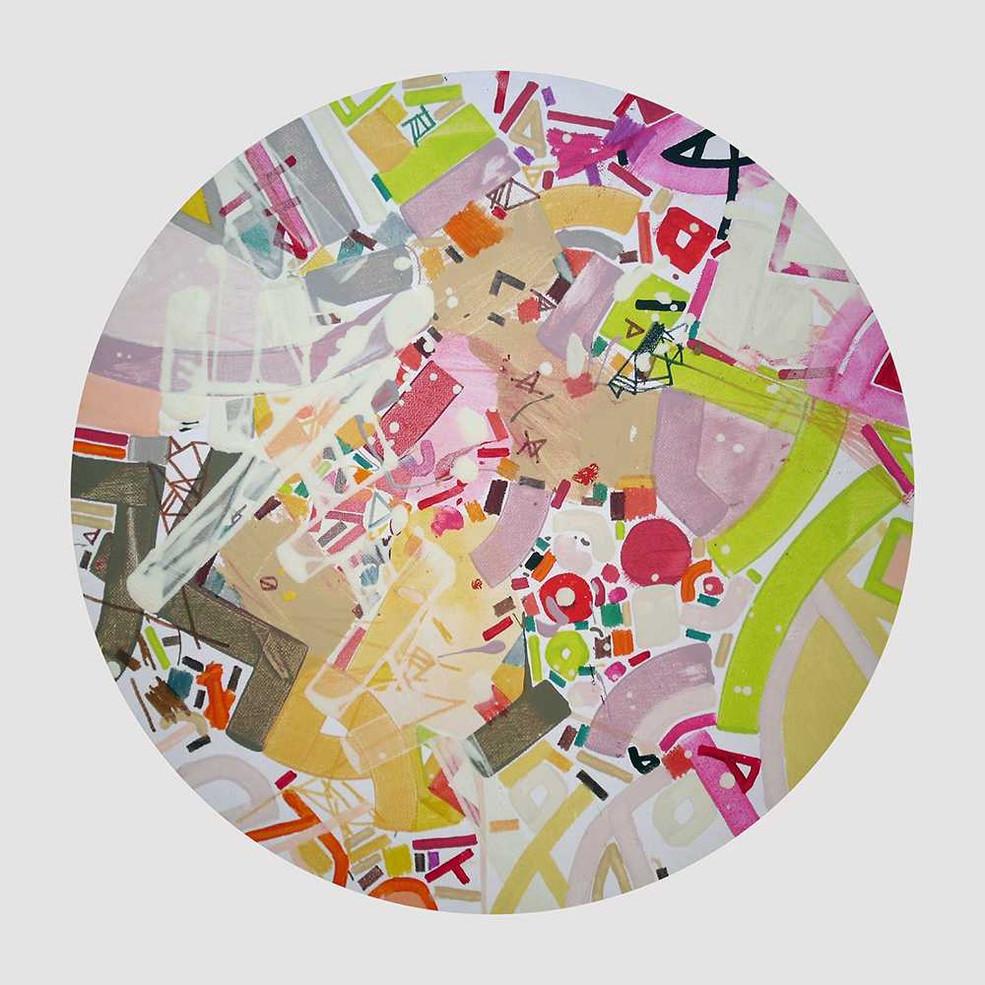 Abstract improvement on canvas by Halaburda