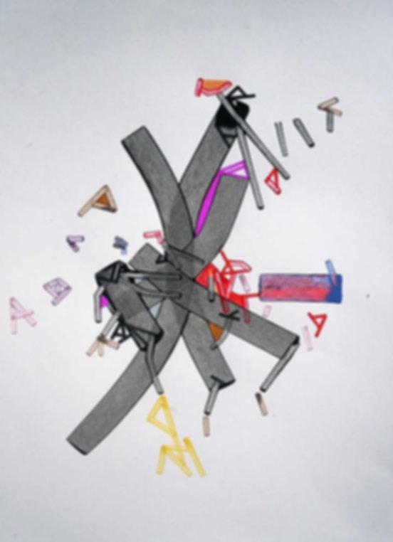 Art on paper Braachial by Philippe Halaburda