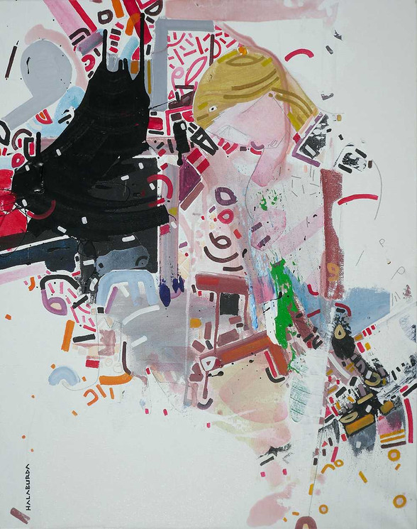 Japanese portrait oncanvas by Halaburda