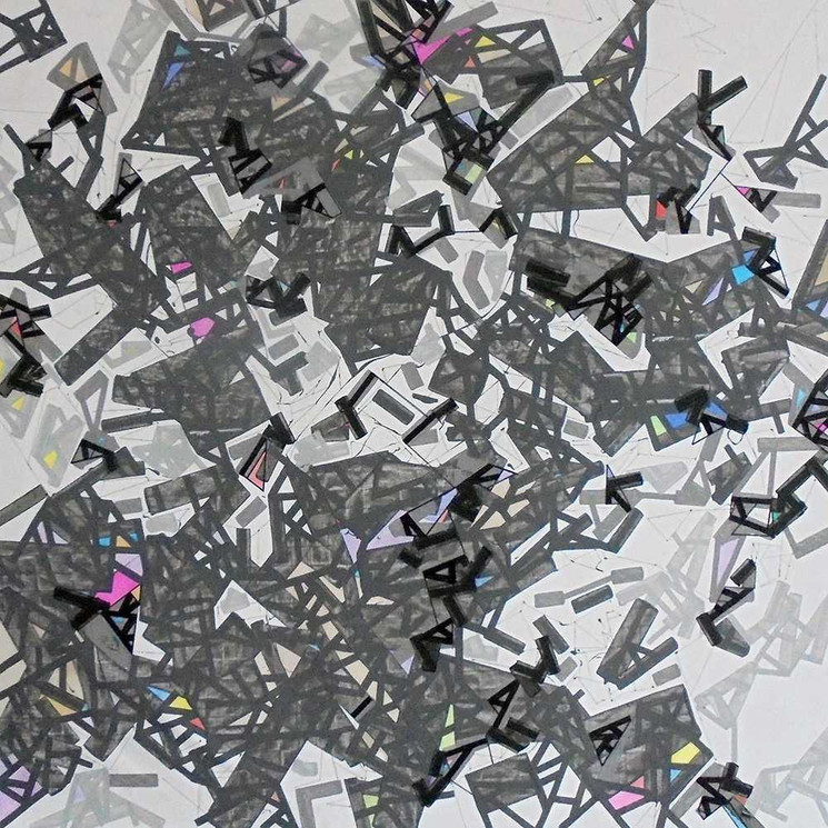 Abstract landscapes on canvas by Halaburda