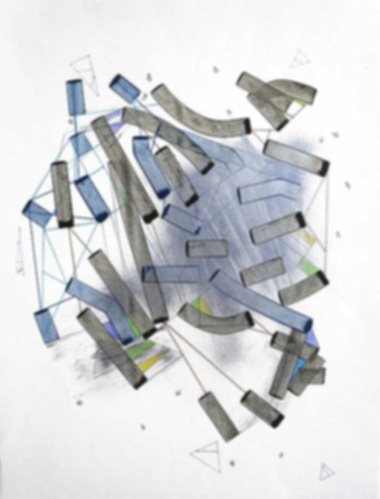Art on paper Hiivernn 2032 by Philippe Halaburda