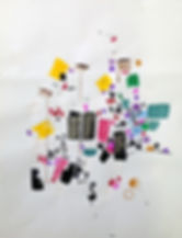 Drawings on paper by Philippe Halaburda, multidisciplinary artist, USA