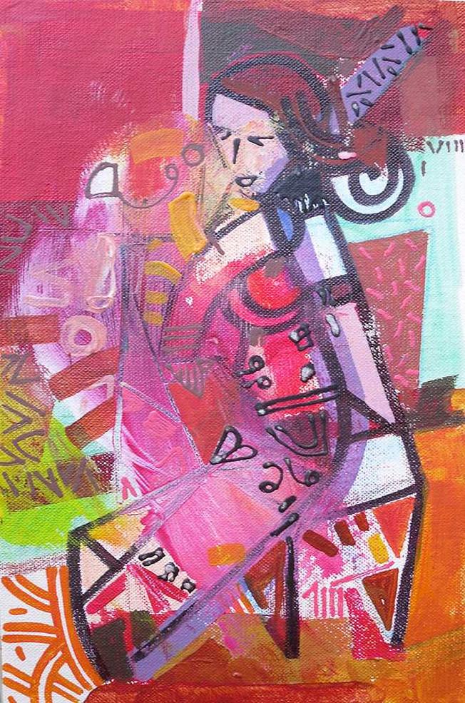 Original art on canvas by Halaburda