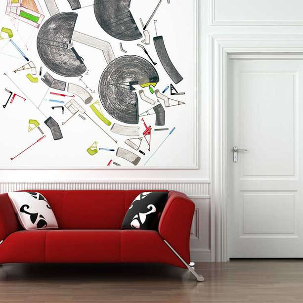 Indoor wall painting for waiting room