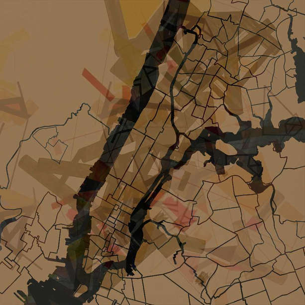 Manhattan map for magazine (project)