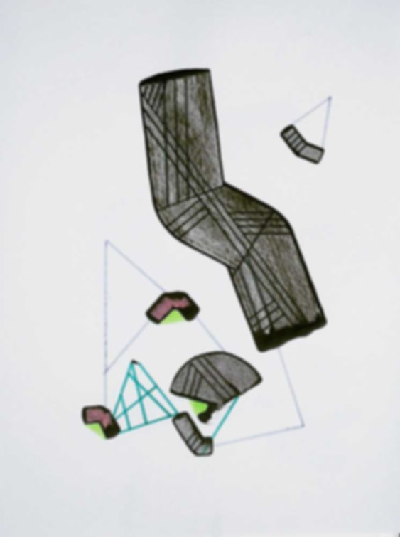 Art on paper by Philippe Halaburda