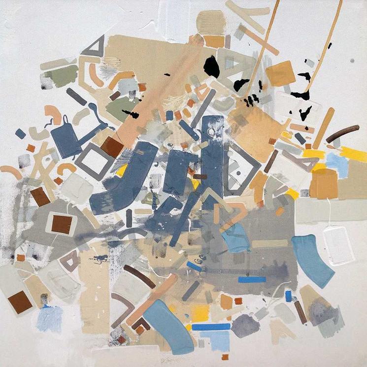 Abstract neighborhoods on canvas by Halaburda