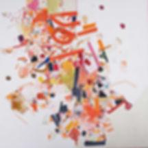 Abstract painting on canvas by Halaburda 2013