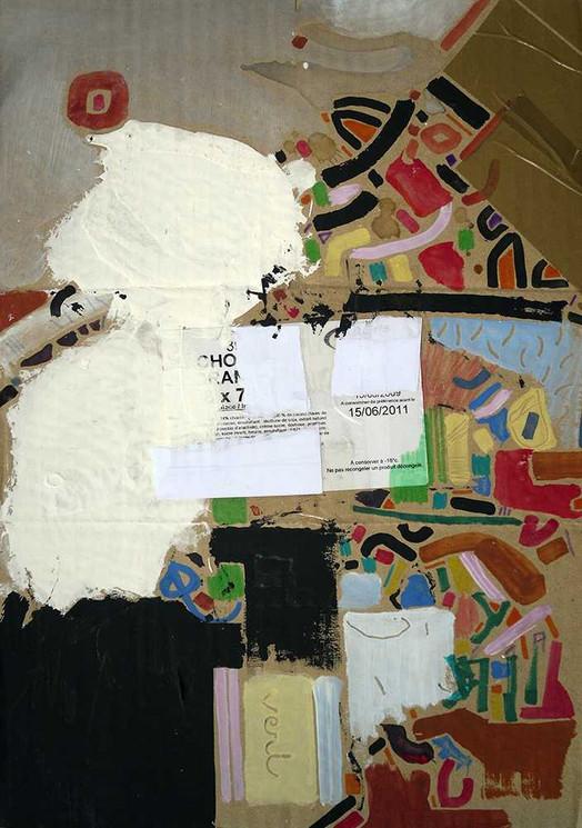 Original art on cardboard by Halaburda