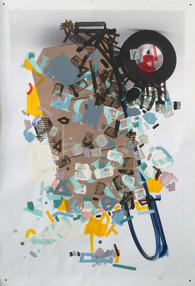 Original mixed media art by Halaburda