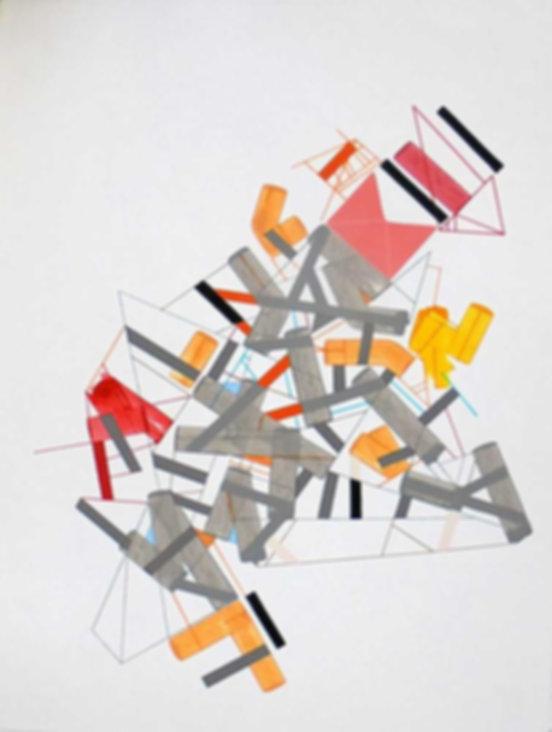 Art on paper Siimonttonn 6 by Philippe Halaburda