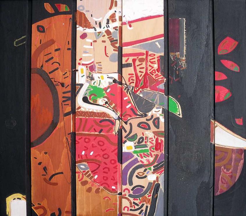 Original art on wood by Halaburda