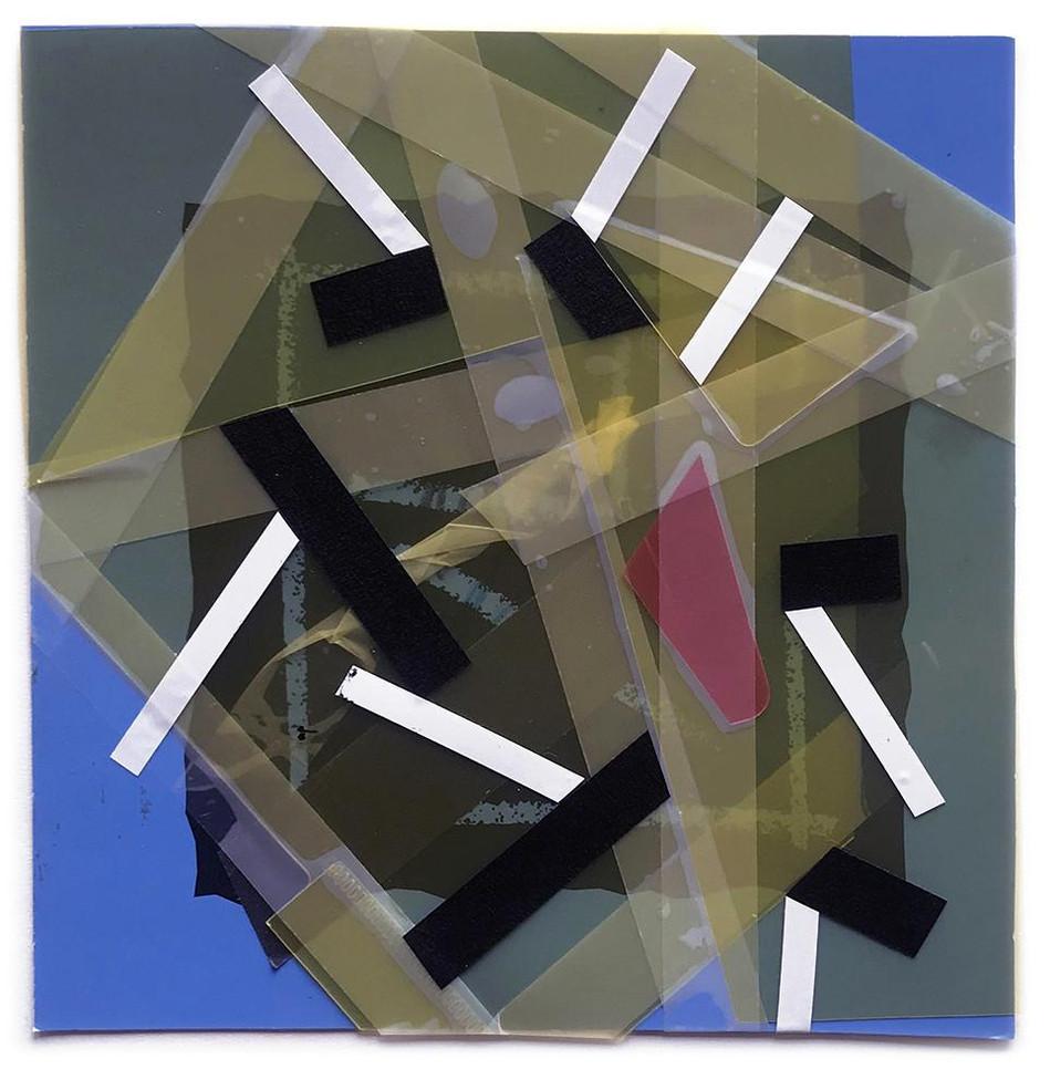 Original tape art on Canson block paper by Halaburda