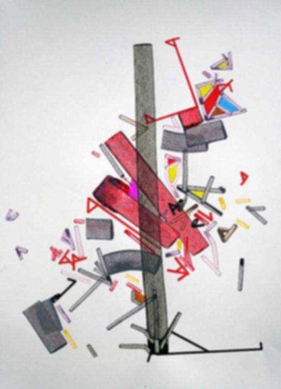 Art on paper Thoraacic Aortta by Philippe Halaburda