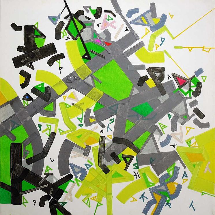 City mapon canvas by Halaburda