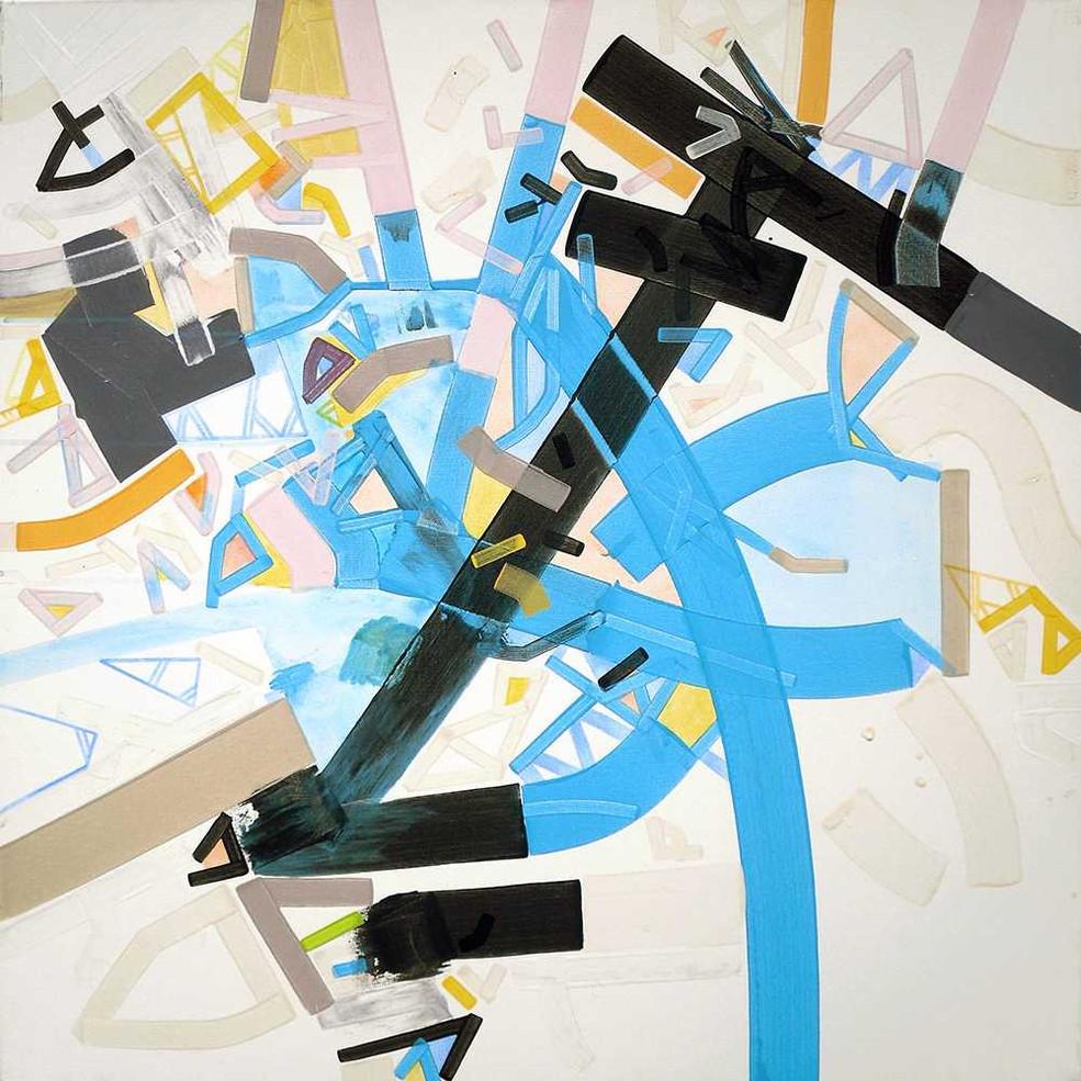 Abstract mechanimon canvas by Halaburda