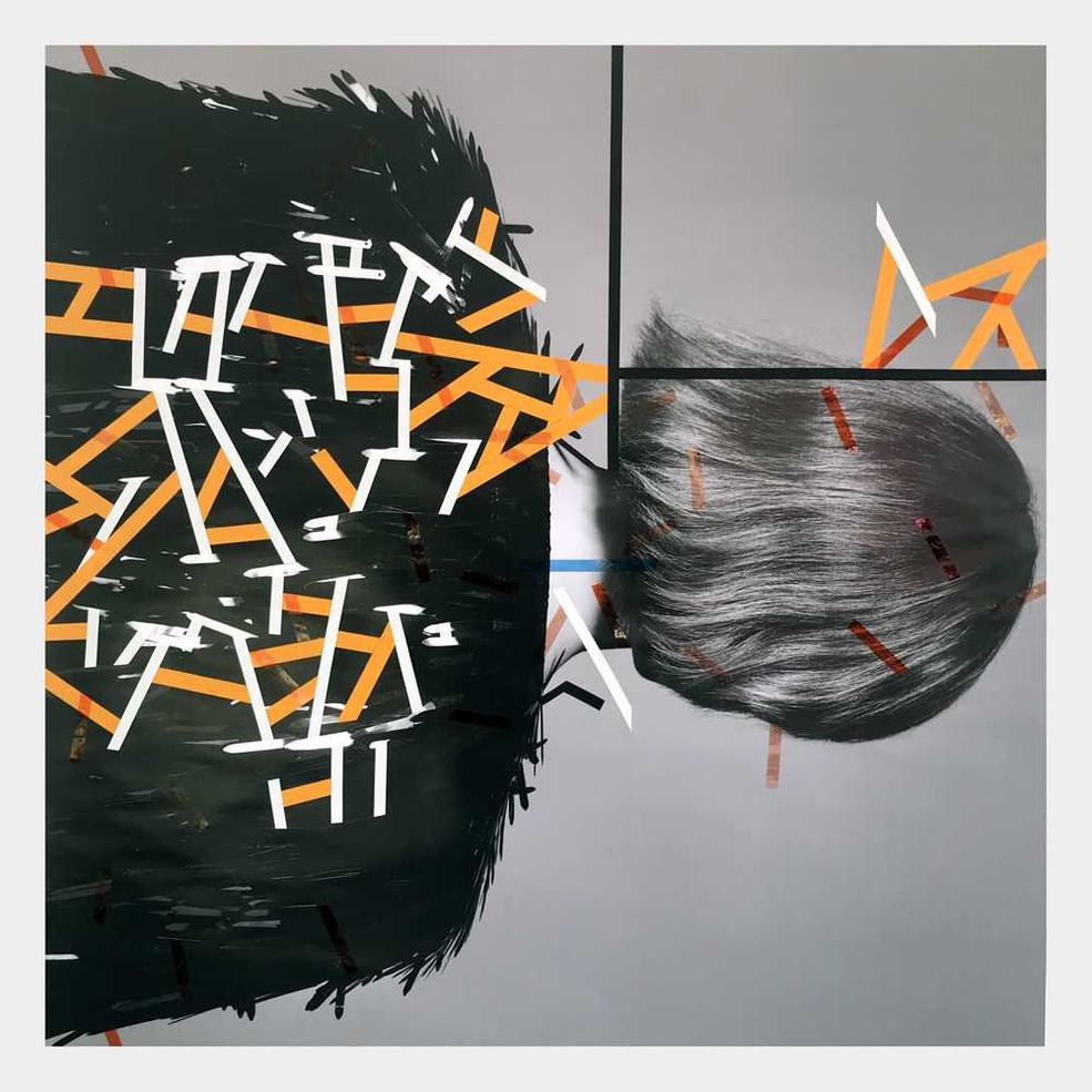 Original tape art on posters by Halaburda