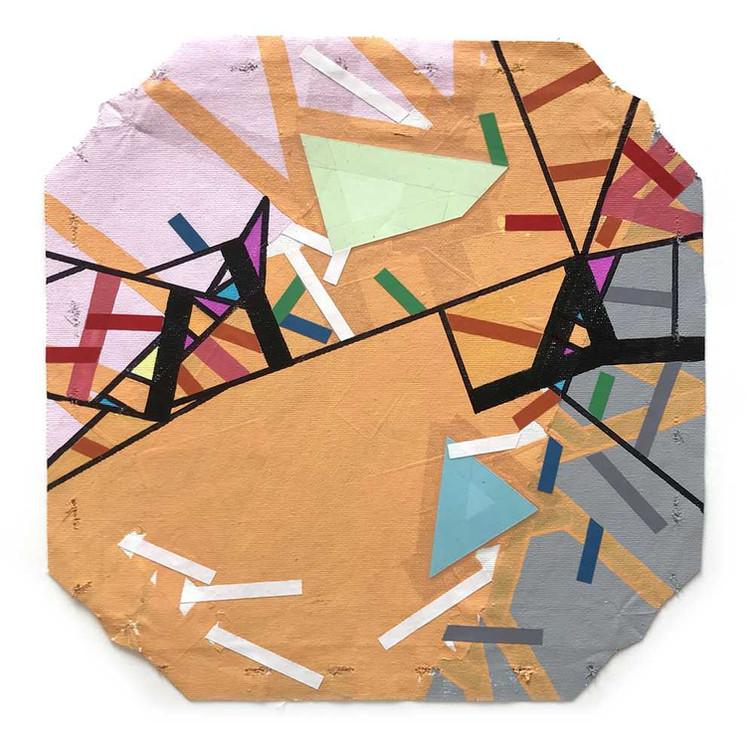 City map on unstretched canvas by Halaburda