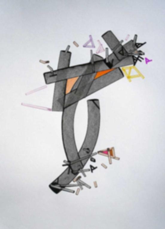 Art on paper Comon Iliiac by Philippe Halaburda