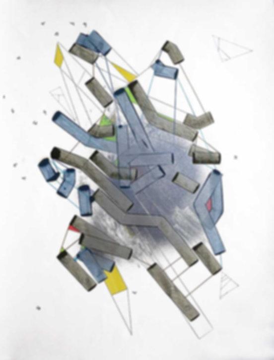 Art on paper Hiivernn 2038 by Philippe Halaburda
