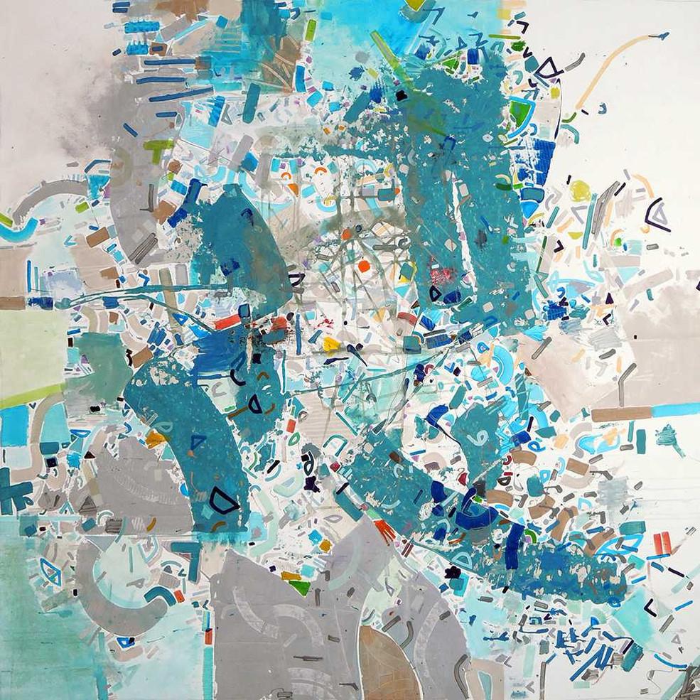 Abstract seascape oncanvas by Halaburda