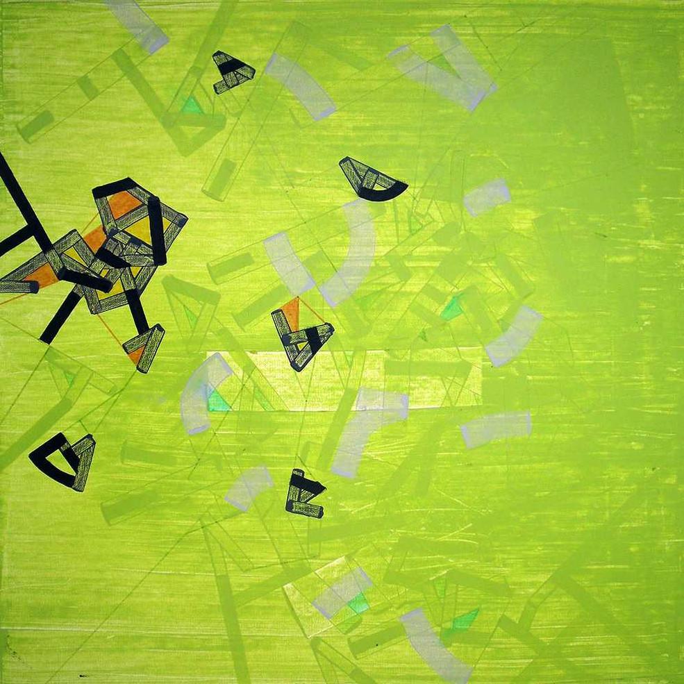 Abstract cognitionon canvas by Halaburda