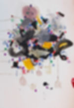"Halaburda, art on paper ""Eagulan series"", Acrylic, felt tip colored, pencil on paper 70x 50cm - 27""x 20"", FR, 2014"