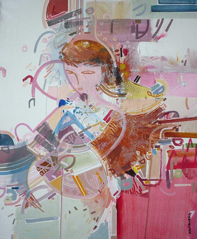 Figurative painting oncanvas by Halaburda