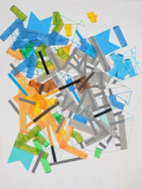 Art on paper Siimonttonn 10 by Philippe Halaburda