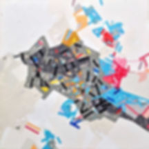 Abstract painting on canvas by Halaburda 2018