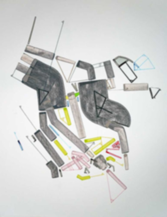 Art on paper Caniis Miror Cassiiop A by Philippe Halaburda