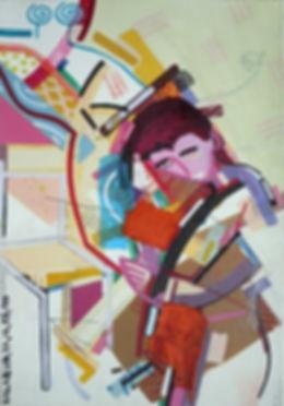 Figurative Painting on Canvas by Halaburda
