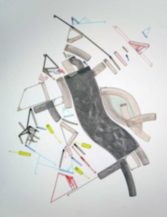 Art on paper Caniis Miror Cassiiop L by Philippe Halaburda