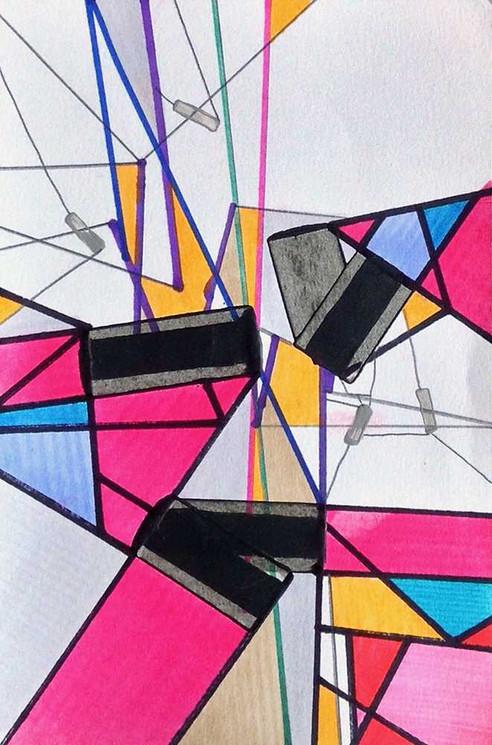 Original art on paper by Halaburda