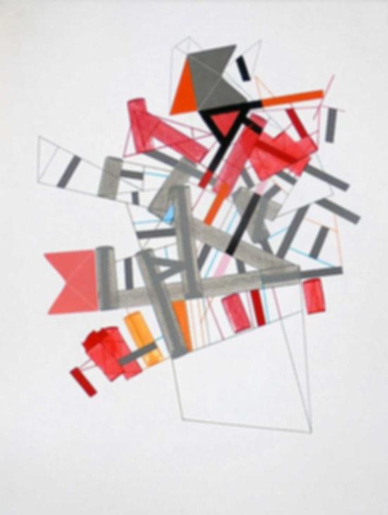 Art on paper Siimonttonn 8 by Philippe Halaburda
